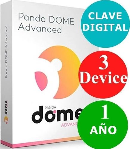 Imagen 1 de 3 de Panda Dome Advanced 3 Dispositivos 1 Año