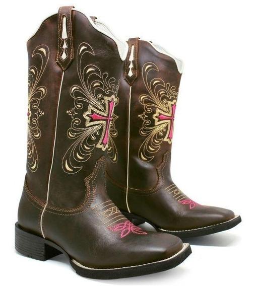 Bota Texana Cowboy Super Conforto E Estilo