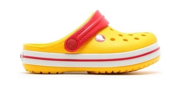 Zuecos Crocs Crocband Ama/roj De Niños