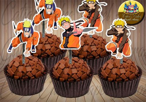 50 Tag Topper Festa Aniversário Naruto