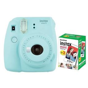 Câmera Fujifilm Instax Mini 9 Azul Aqua + Pack 30 Fotos
