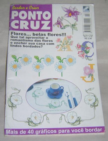 Livro Ponto Cruz Bordar E Criar - Mais De 40 Gráficos.