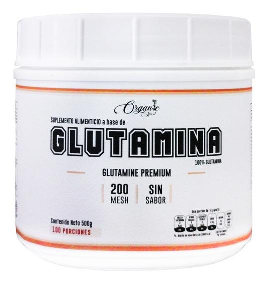 Glutamina Organic Sport Glutamina 500g, 100 Porciones