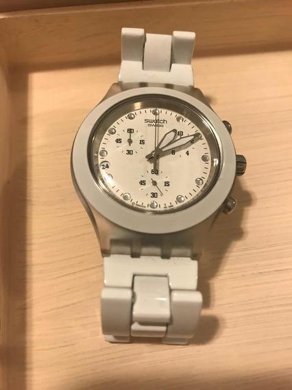 Relógio Swatch Irony Diaphane Branco Como Novo