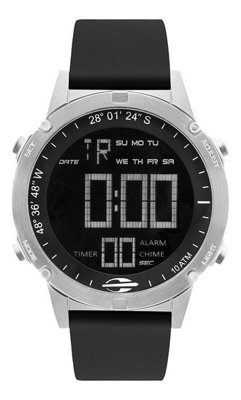 Relógio Digital Mormaii Slim Surf Prata Mow13901d/2p