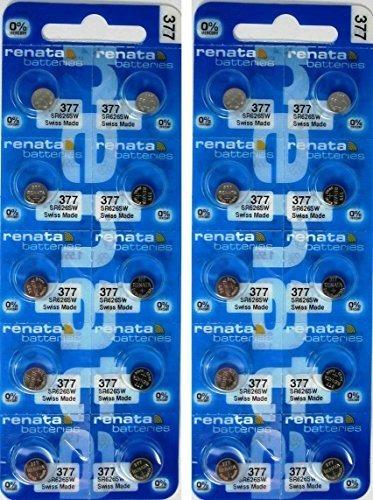 20 De Oxido De Plata Pilas 377 Electronica Renata De Mercuri