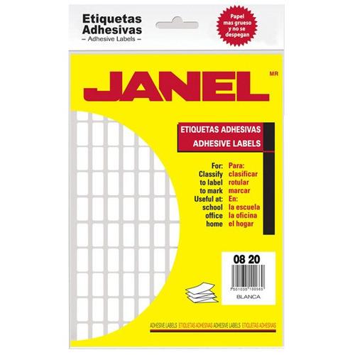 Etiquetas Blancas Janel No. 4 De 8x20 Mm 1 Paquete