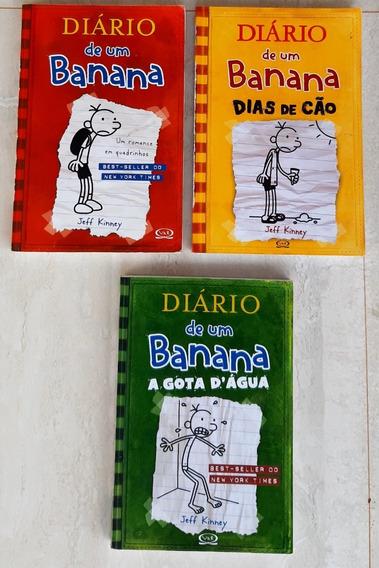 Diário De Um Banana Com 3 Livros Infantis E Juvenis