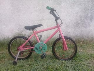 Bicicleta Infantil Nena Shimano C/rueditas