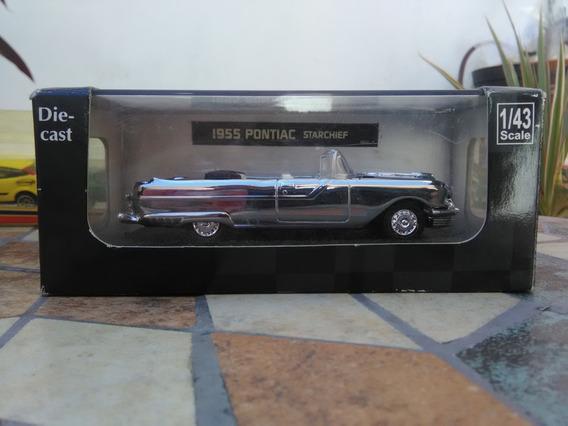 Pontiac 1955 Cromado Escala 1/43 Caja Acrilica.