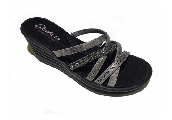 Sandalia Skechers Rumbler Wave New Lassie Pewter Para Dama