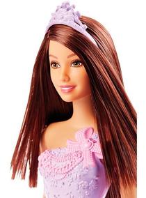 Boneca Barbie Morena Princesa Vestido Lilás Dmm08 Mattel