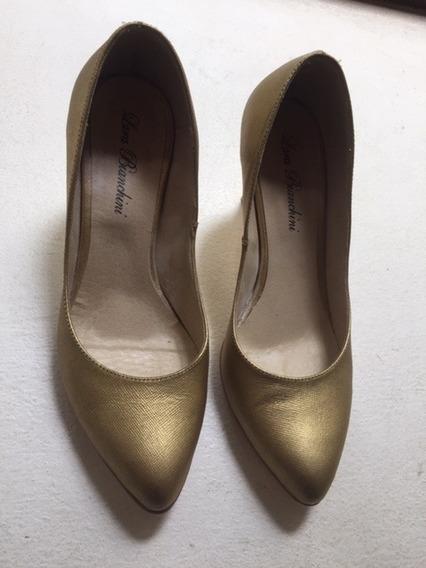 Zapatos Dorados T 36