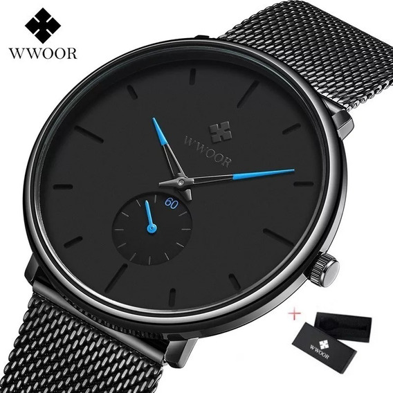 Relógio De Pulso Masculino Ultra Slim Importado Luxo 8855