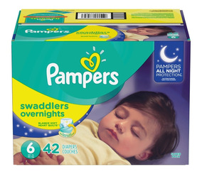 Pampers Swaddlers Overnight, Talla 6, 42 Piezas