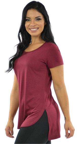 Kit 2 Blusinha Mullet Plus Size Lisa Camiseta Feminina Moda