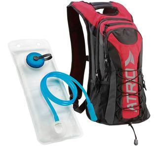 Mochila De Hidratação Térmica + Bolsa Água 2 L Vermelha Bike