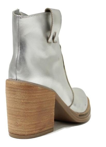 Zapatos De Mujer Botas De Cuero Texanas Botinetas Casuales Isa