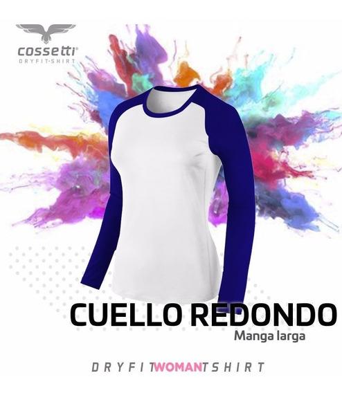 Playera Cuello Redondo Cossetti Larga Dryfit Ranglan Xl 2xl