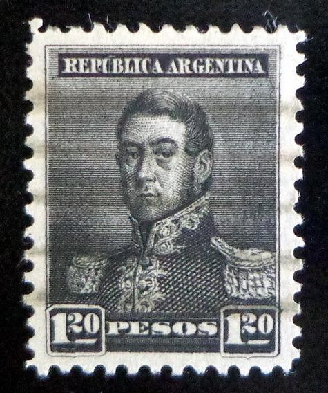 Argentina, Sello Gj 187 S Martín 1.20p 11 1-2 Usado L9702