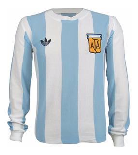 Camisa Retro Argentina Copa Do Mundo 1978