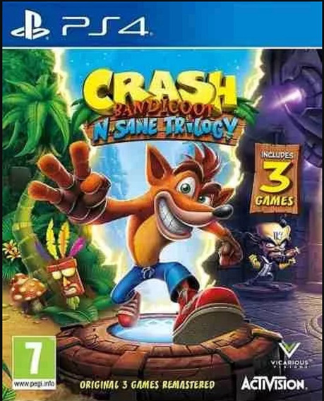Crash Bandicoot N.sane Trilogy Ps4 Jogo Digital- Vitalicio