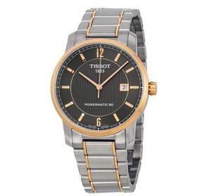 Relógio Tissot Powermatic 80 Cinza/rosé Automático Titânio