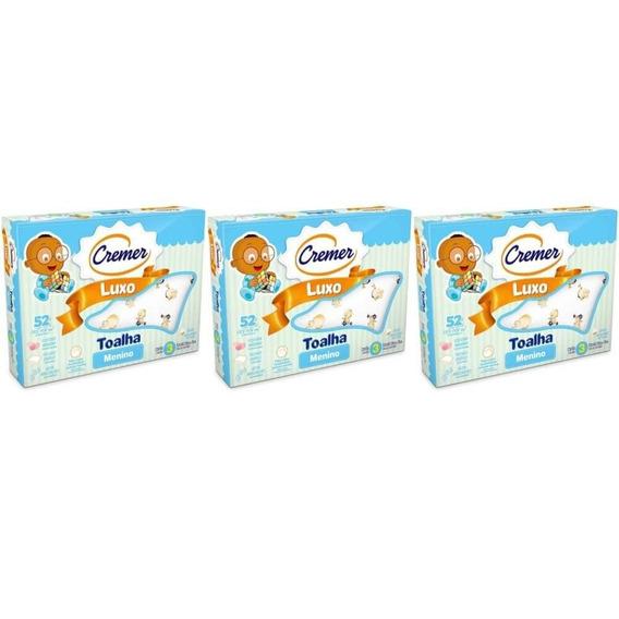 Cremer Luxo Toalha Infantil Estampada Menino C/3 (kit C/03)