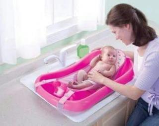 Hamaca Malla Soporte De Seguridad Para Baño Bebe - Basa