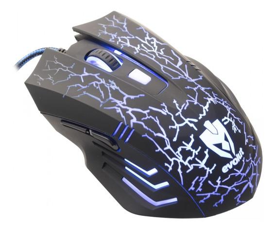 Mouse Gamer Evolut Eg-102 2400dpi Rgb 6 Botões