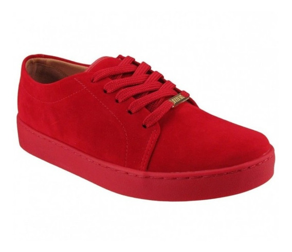 Tênis Feminino Vizzano Casual Camurça Color Vermelho 1214205