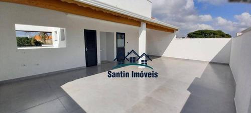 Cobertura   *pronta Para Morar ** Com 3 Dormitórios(01 Suíte ) Fino Acabamento  02 Vagas  À Venda, 140 M² Por R$ 465.000 - Vila Pires - Santo André/sp - Co0356