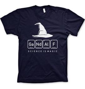 Camisetas Senhor Dos Anéis Gandalf Tabela Elemento Filmes