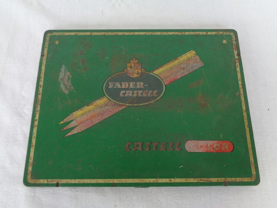 Faber Castell Lata Estojo Lapis 13 Unidades Antigo