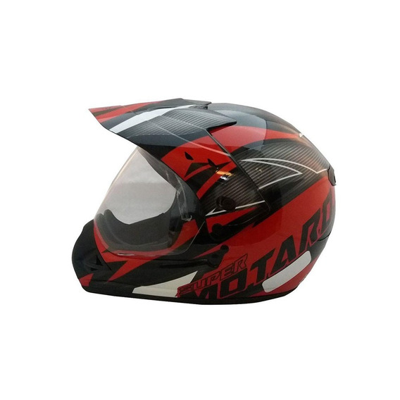 Capacete Para Moto Ebf Super Motard Iron Várias Cores
