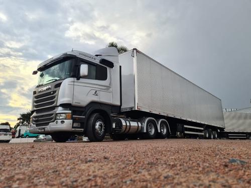 Scania R440 Streamline + Carreta Bau Facchini 30 Pal 3 Eixos