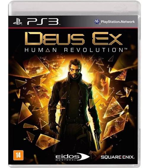 Deus Ex Human Revolution Ps3 Mídia Física Cd Bluray Original