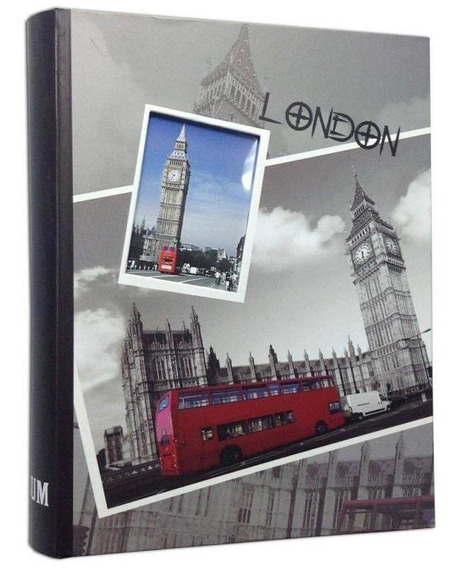 Álbum 200 Fotos 10x15 C/visor London Bus Wb-46200-490 Squar