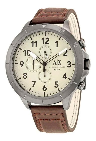 Reloj Armani Para Hombre Café Y Plata Con Chronos Ax1757