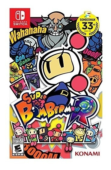 Super Bomberman R - Switch - Mídia Física - Nota Fiscal
