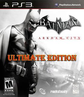 Batman: Arkham City Ultimate Bundle Digital Latino Ps3