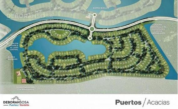 Lote Lindero - 653m2 - Puertos Del Lago- Barrio Acacias