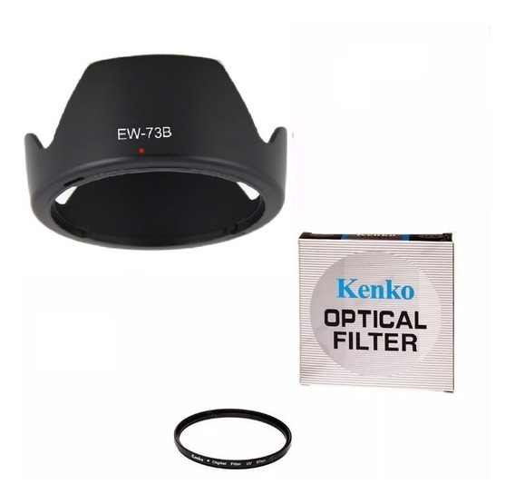 Filtro Uv 67mm + Parasol Ew-73b Canon 17-85 18-135mm