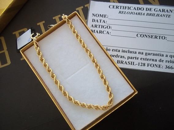 Bracelete Feminino Modelo Cordão Ouro18kl