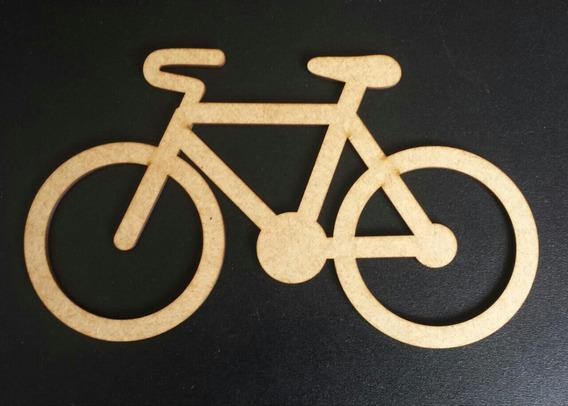Bicicleta Mdf Cru Decoração Parede Aplique 1 Metro Md01