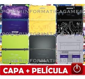 New 3ds Xl 64gb 2000 Jogos Capa Acrílica + Película + Fonte