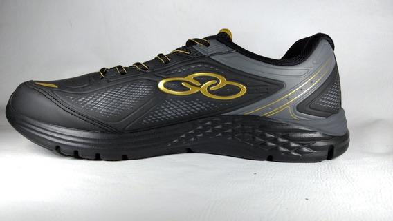 Tenis, Olympikus, Spirit 2/218, Preto/dourado,