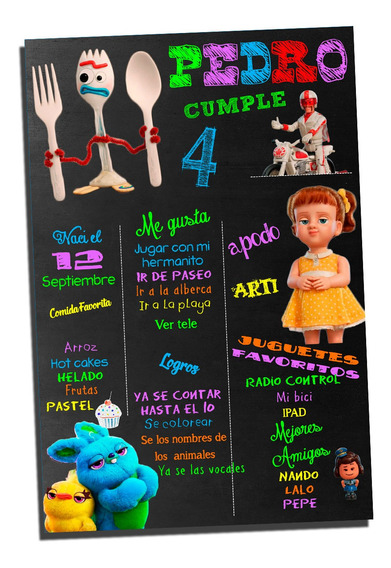 Pizzarra Editable Toy Story