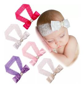 4 Pzas Diadema, Bandita Elastica Para Recien Nacidos Y Bebes