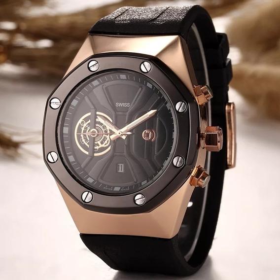 Relógio Masculino Luxo Aço Inoxidável Original